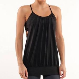 Lululemon Black top with built in sports bra